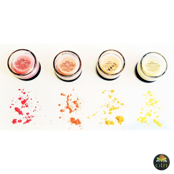 CITRI BRIGHTS. Loose shadows available in 12 shades. High pigmentation to give that pop of colour