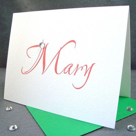 Classic Personalized Blank Notecards in by ZeeBestCelebrations