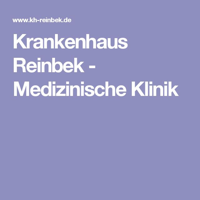 Krankenhaus Reinbek - Medizinische Klinik