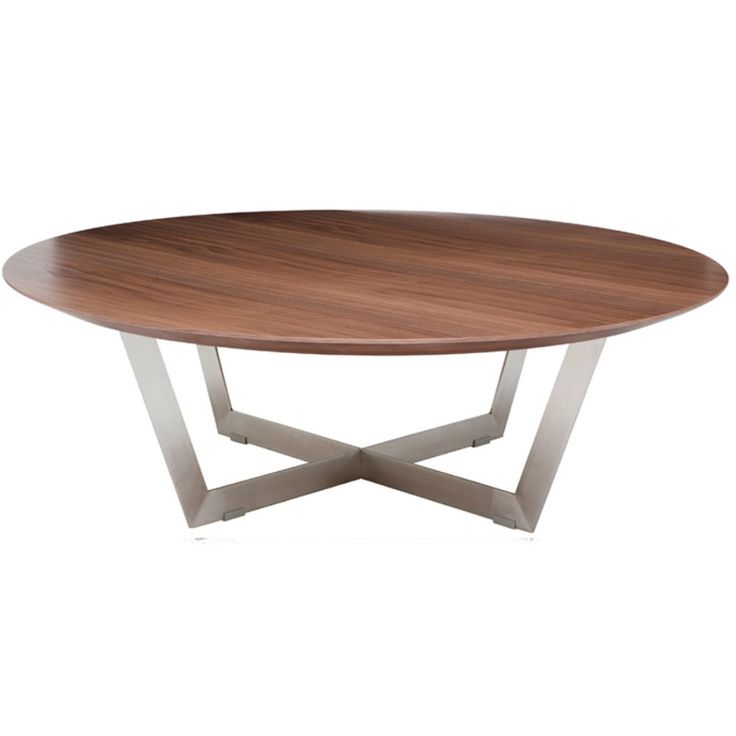 Nuevo Dixon Round Wood Coffee Table - The Nuevo Dixon Round Wood Coffee Table is the perfect mod centerpiece to accent your space. The high-quality tabletop is durable and long lasting,...