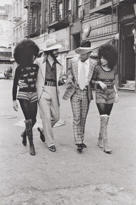 Harlem, 1970's. Boots and Hair!