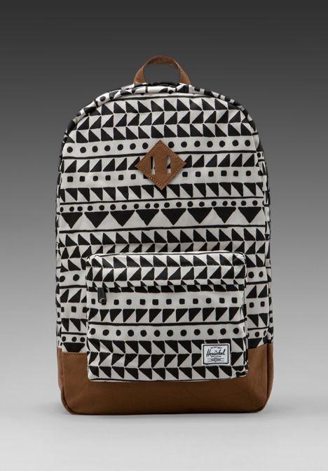 Heritage Backpack in Chevron Black / by Herschel Supply Co.