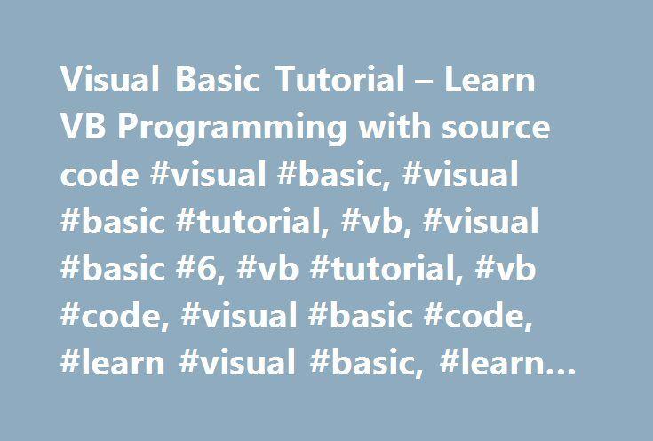 Visual Basic 6 (VB6) Tutorial for Beginners - Learn VB6