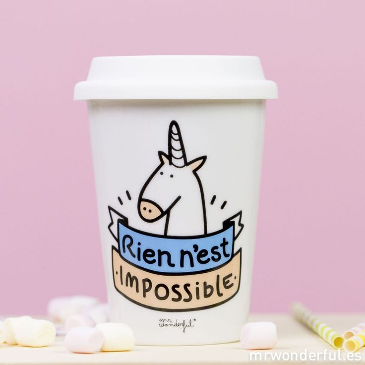 "Mug take away ""Rien n'est impossible"" (FR)"