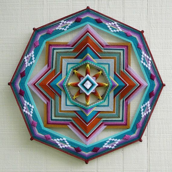 Custom order 36 inch 8-sided Ojo de Dios by JaysMandalas on Etsy