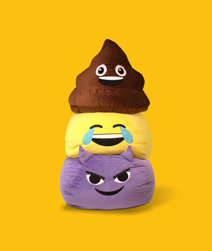 GoMoji™ emoji bean bags! So fluffy and fun!
