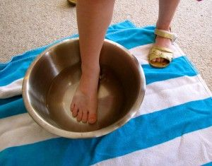 Ancient Greece dinner party: wash and perfume your feet before entering, then eat picnic style in the classroom.