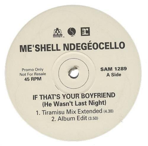 "Me'Shell Ndegeocello It That's You Boyfriend [He Wasn't Last Night] 1993 UK 12"" vinyl SAM1289: MESHELL NDEGEOCELLO It Thats You Boyfriend…"