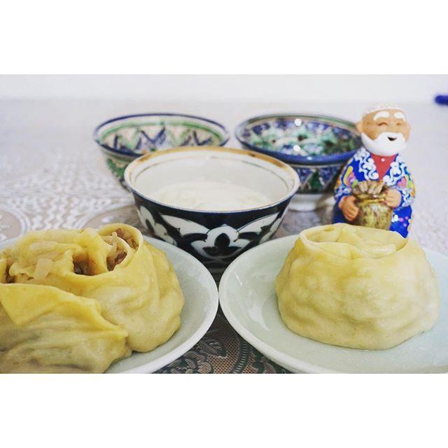 silkroadpartnersちょっと変わったこちらはグリマンティ。お花マンティという意味です。  #ウズベキスタン #ウズベキスタン料理 #マンティ#エスニック料理 #おうちごはん #おいしい