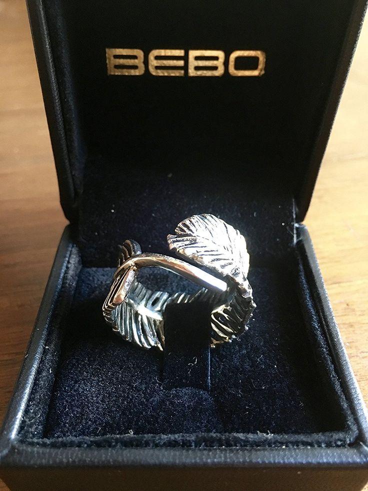 Anello piuma by Bebo jewelry in Argento massiccio 925 fatto a mano in Italia.