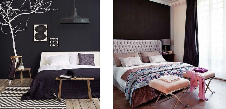 Black Wall Bedroom