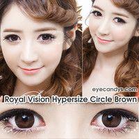 Royal Vision Hypersize Circle Brown Circle Lens Fashion Colored Contacts Korean Contact Lenses | EyeCandy's