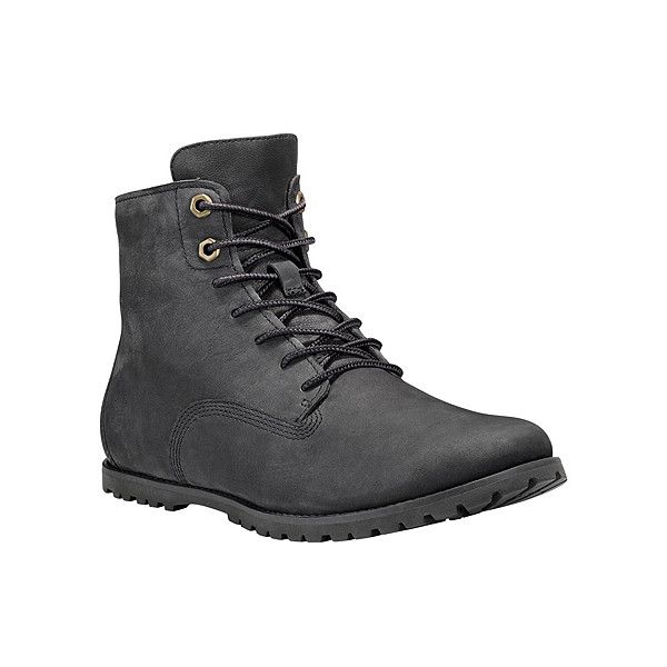 Timberland Joslin Chukka ($120) ❤ liked on Polyvore featuring shoes, boots, black nubuck, desert bootie, nubuck shoes, black desert boots, nubuck boots and black shoes