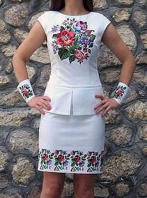 The floral skirt is nice and even the peplum top I have no idea why there are matching cuffs? I m confused ♀️ by this