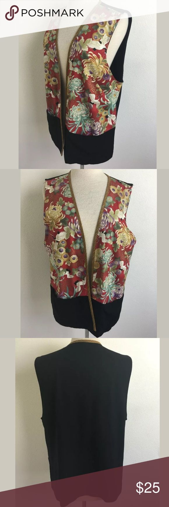 Naturally Petite vest Length Shoulder To Hem: 26.25 Bust: 44 Waist: 42 Fabric Content: Front 100% cotton, back 100% rayon Size is estimated. Please refer to measurements.    SKU: SD14797 Naturally Petite Tops