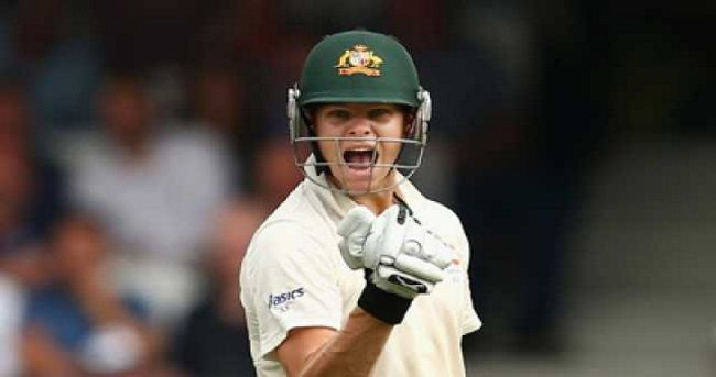 Skipper Steven Smith led the way with a century as Australia built up a slender lead on the rain-hit fourth day of the second cricket Test against Pakistan here on Thursday.
