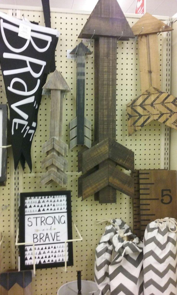 Wooden wall arrows #woodland theme /Hobby Lobby 50% off