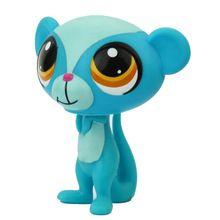 Маленьких зоомагазине лпс аниме милые животные голубой обезьяны действие мини-фигурки коллекция Brinquedos рождественские для детей игрушки(China (Mainland))