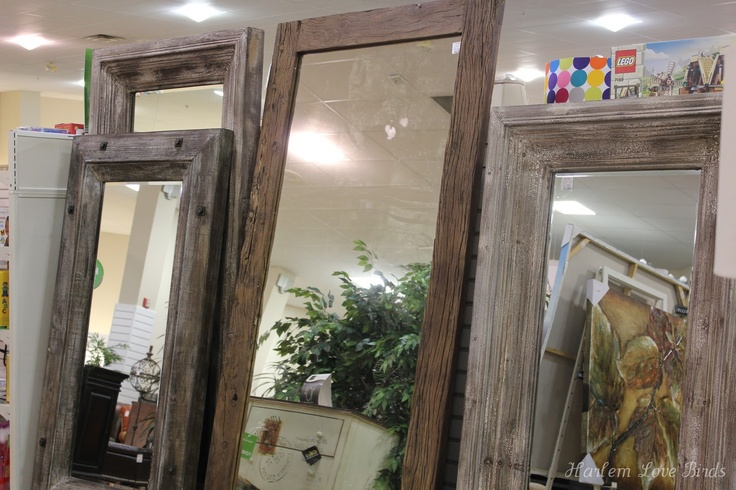 Harlem Love Birds: floor length mirrors, rustic wood