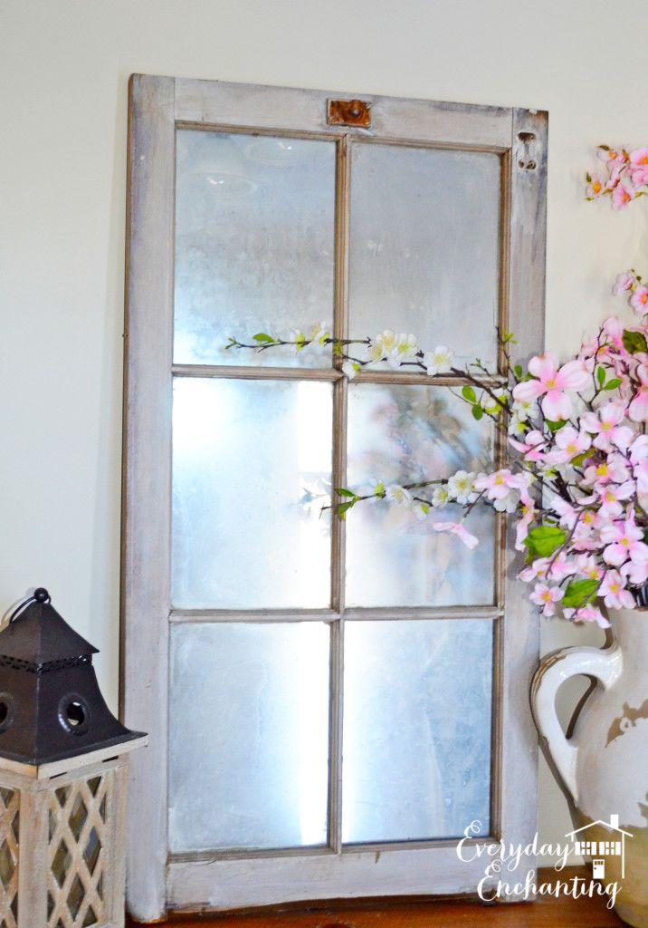Everyday Enchanting old barn window mirror panes