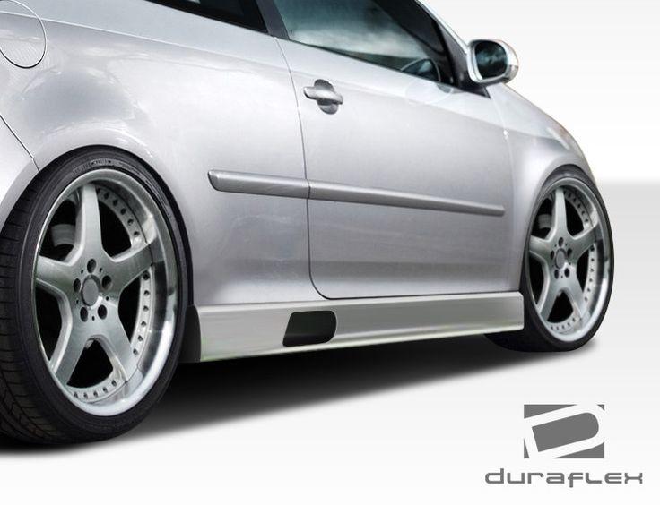 2005-2010 Volkswagen Jetta 2006-2009 Golf GTI Rabbit Duraflex PR-D Side Skirts Rocker Panels - 2 Piece