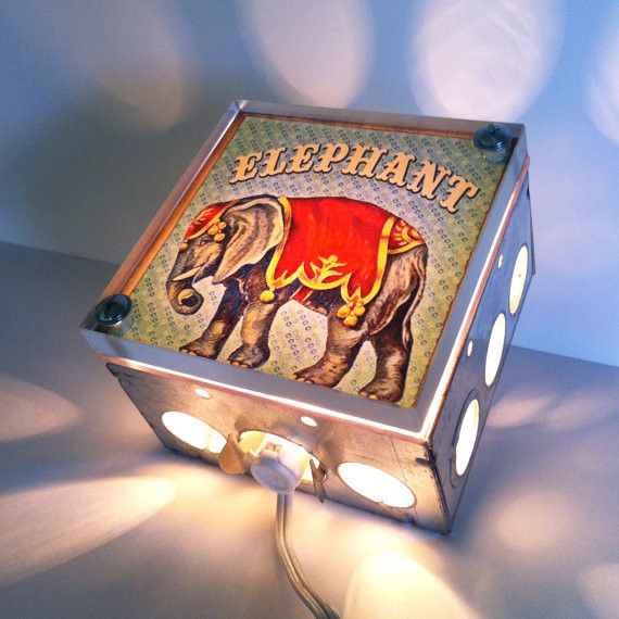 Circus Interior Design | animali Elephant Nursery Night Light by The Rekindled Page eclectic ...