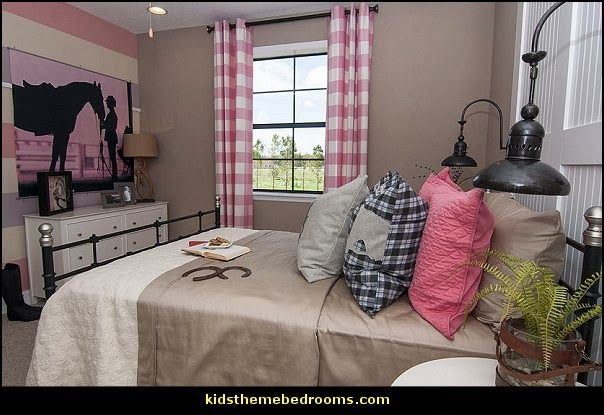 equestrian theme bedroom decorating ideas-girls horse theme bedrooms equestrian style