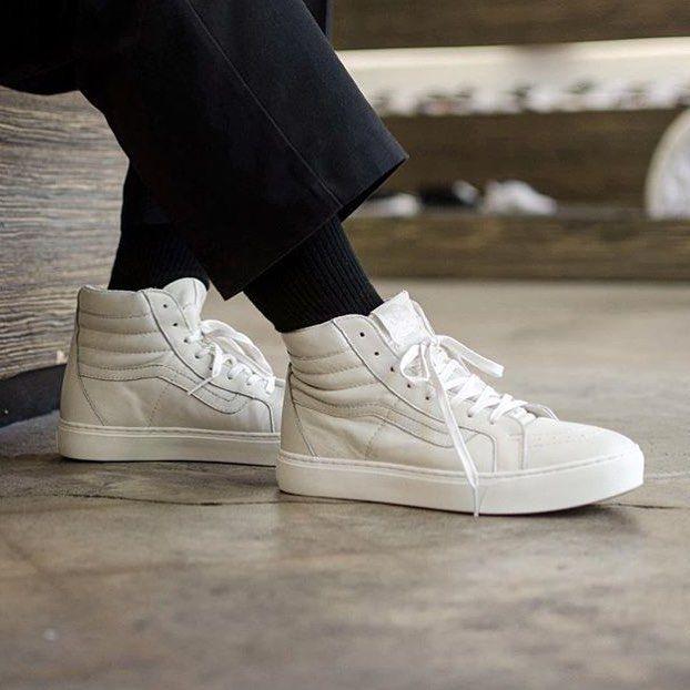 vans sk8 all white