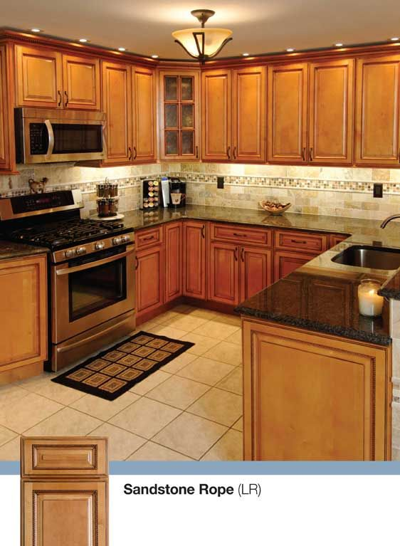 Sandstone Rope Kitchen - Solid Birch Wood Door Kitchen cabinets by Kitchen Cabinet Kings |  Buy Kitchen Cabinets Online and Save Big with Wholesale Pricing!
