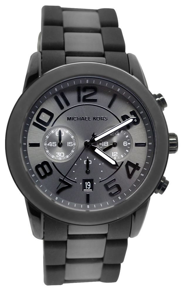 Michael Kors Mercer Chronograph Black Mens Watch MK8322 #MichaelKors #Fashion ***Click the link to find out how to get the best deals!*** www.CashBackATX.com