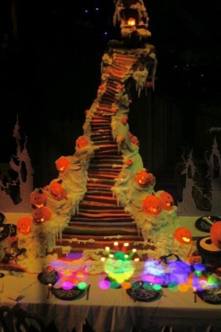 Gingerbread house inside Haunted Mansion #Disneyland