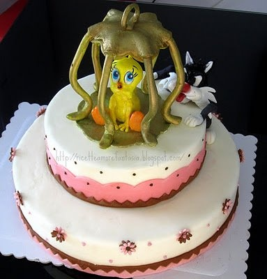 Sylvester and Tweety cake