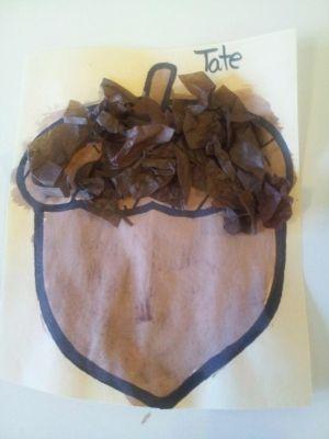 Acorn preschool craft by anastasia