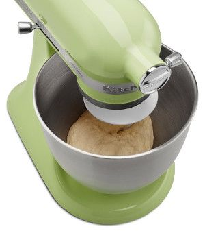 Honeydew KitchenAid Mini Stand Mixer Review | Chef's Stand Mixer Reviews: find out what's good and what's not about this interesting green color mixer.