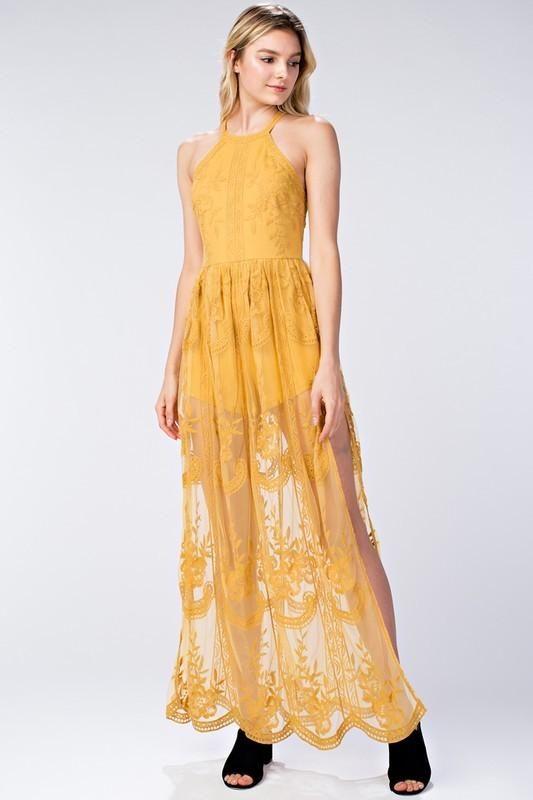 b8e08865b9a5 Chloe Halter Dress. Chloe Halter Dress Lace Maxi ...