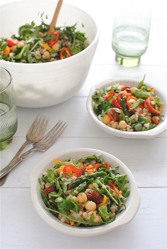 Vegetarian Barley Toss. sounds so effing good, i'm always looking for new salads to try because it's basically all i eat