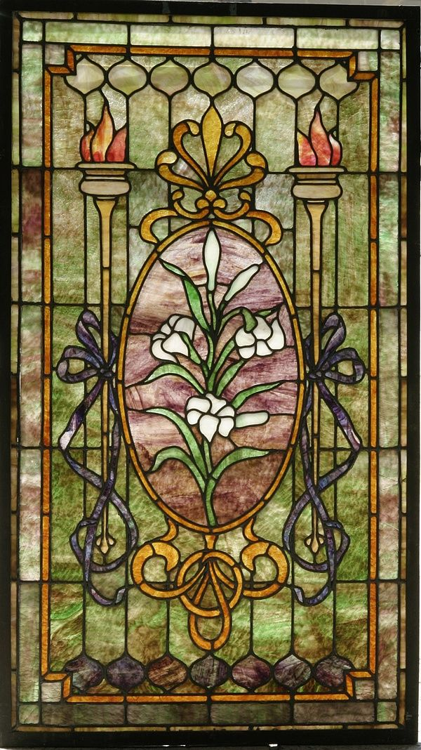 Antique stained glass doors for sale antique furniture for Art glass windows and doors