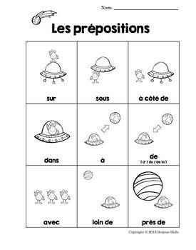 FRENCH PREPOSITIONS (LES PRéPOSITIONS): HANDOUT/POSTER (FREE!) - TeachersPayTeachers.com