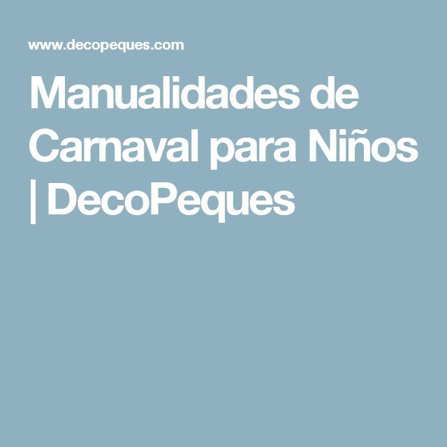 Manualidades de Carnaval para Niños   DecoPeques