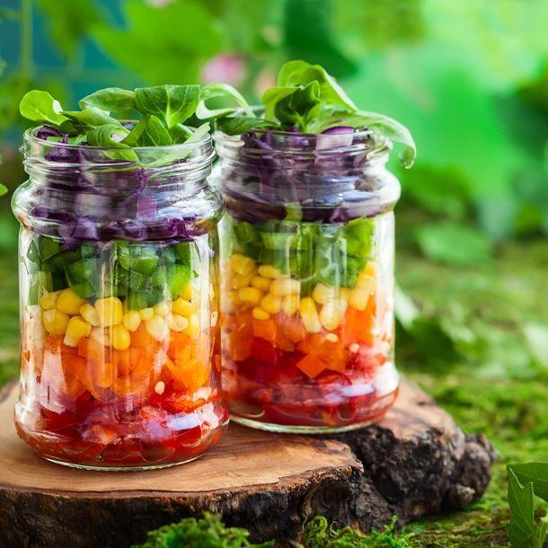 Recette Rainbow salade jar (facile, rapide)