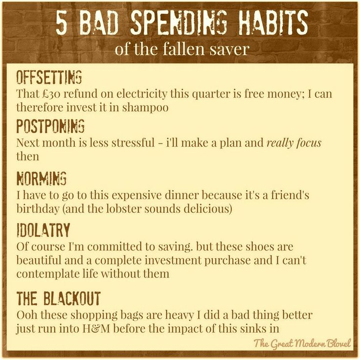 bad spending habits