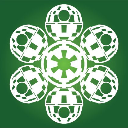 Death Star Star Wars Snowflake Template (31 others here)
