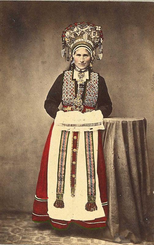 Bride, Hardanger | Marcus Selmer | 1862-1866 | Norsk Folkemuseum | Public Domain