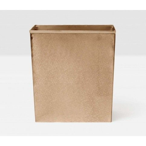 Pigeon & Poodle Tiset Rectangular Wastebasket in Antique Brass Finish and Optional Tissue Box from The Well Appointed House