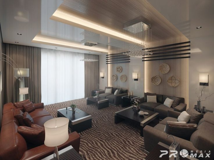 Brown elegant living room design