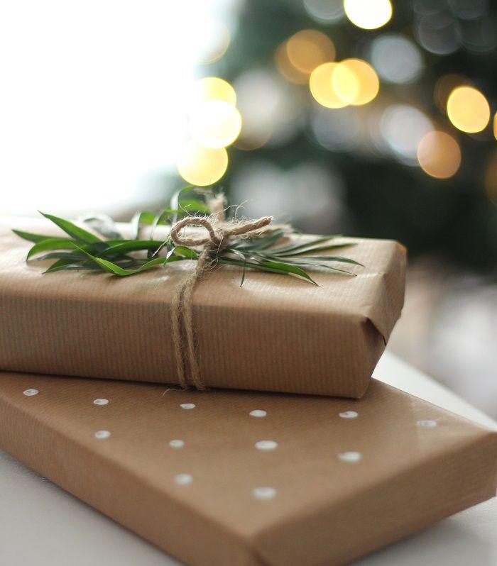 Geschenk einpacken Weihnachten Idee