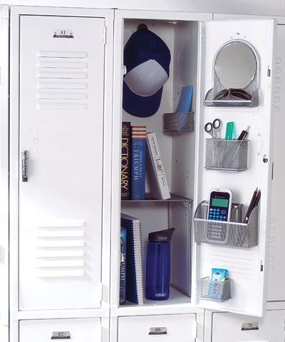 Locker Organization****Students usually have a lot of items to fit into a fairly small locker, so maximizing this small space can be a challenge. Follow these tips for fun and functional locker organization solutions that will help students keep their lockers organized the whole year through. baby-kids
