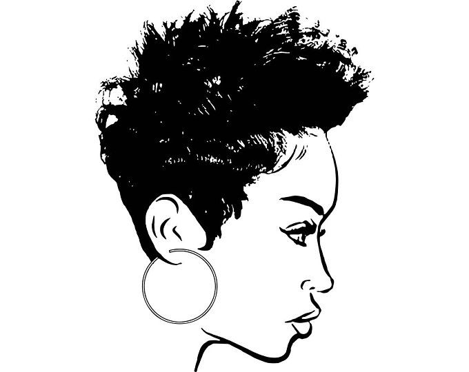 Afro Woman Svg Princess Queen Afro Hair Beautiful African Etsy In 2020 Afro Women Black Girl Art Black Woman Silhouette