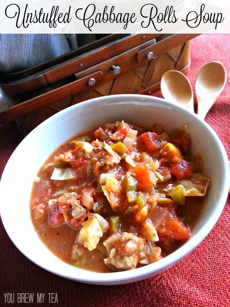 This Unstuffed Cabbage Rolls Soup recipe is a great choice for a fast, healthy and delicious meal!    Type a Board Name         This Unstuffed Cabbage Rolls Soup recipe is a great choice for a fast, healthy and delicious meal for only 3 SmartPoints per serving!  | SmartPoints Recipe | Weight Watchers Recipe | Weight Watchers Soup | SmartPoints Soup