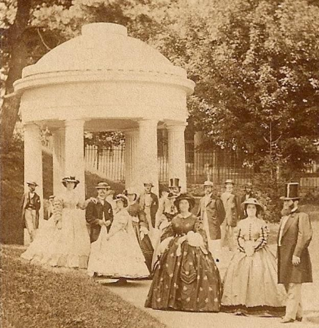 Saratoga Springs - the place to see-and-be-seen before Newport, Rhode Island's ascendancy in the 1880s.